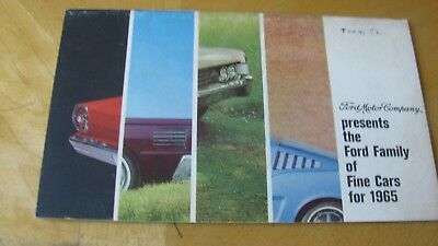 1965  Ford  Mustang Thunderbird Falcon  Family Of Fine Cars  Oem  Sales Brochure