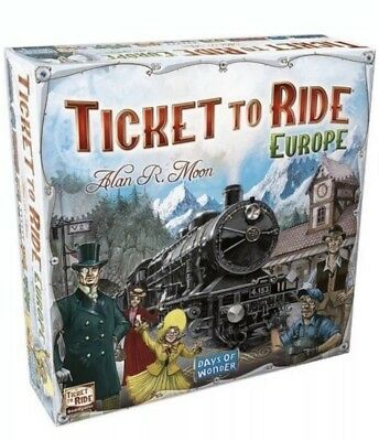 Ticket to Ride Europe Board Game Brand New Sealed Fast Shipping Christmas
