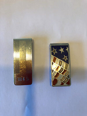 2 Sterling Silver Tiffany Money Clips AS IS