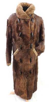 CIVIL WAR WILD WEST ERA Incredible Bear Fur Coat 1880s Americana Furrier M-L