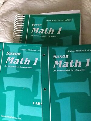 Saxon Math 1 Teacher Edition and Student Workbooks