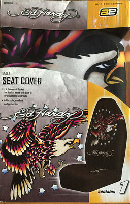 Ed Hardy Eagle Car Seat Cover Universal Bucket New