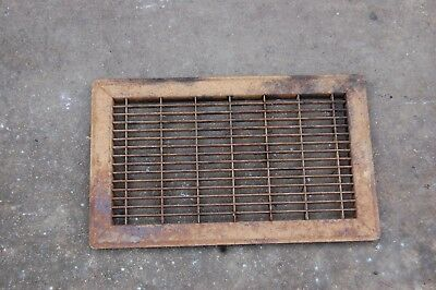 "Vintage Metal Vent Floor Wall Heat Grate Old & Rusty 16""x 10""  OLD HOUSE WARES"