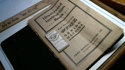 FREE SEWING MACHINE Rockford IL treadle parts list / price + Needle Pack Manual