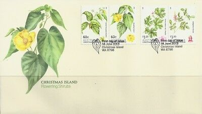 2013 Christmas Island - Flowering Shrubs First Day Cover FDI