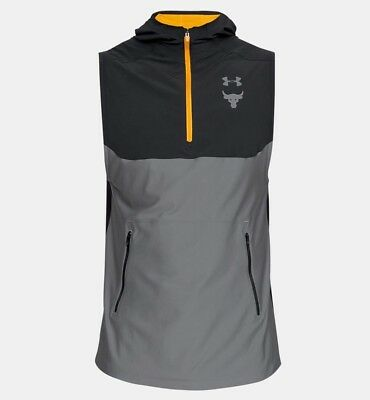 61ae8320d983f8 Under Armour Men s Ua X Project Rock Vanish Sleeveless Hoodie Dwayne  Johnson Nwt