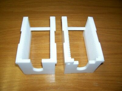 """3"""" Teflon Wafer Carrier 25 Slot Milled from Solid Block of Teflon"""
