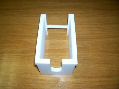 """3"""" Teflon Wafer Carrier 50 Slot Milled from Solid Block of Teflon"""