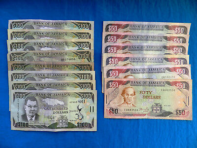 Lot of Jamaica Banknotes