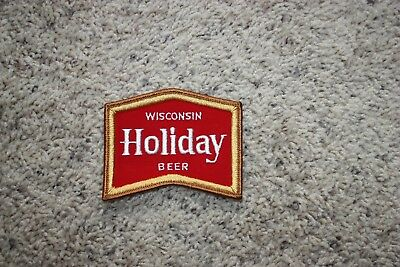 Potosi Holiday Beer Patch (new/old stock) Used on jacket & shirts