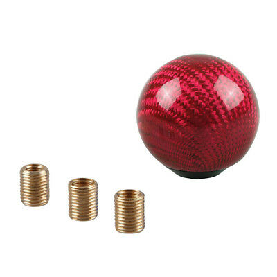 Universal Car Aluminum Alloy Red Gear Stick Shift Shifter Lever Knob Round Ball