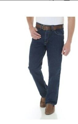 89f4462f48a WRANGLER HERO MENS Five Star Regular Fit Blue Jeans Size 42X30 NWT ...