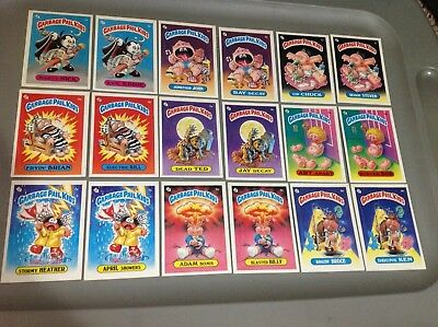 Series 1 Garbage Pail Kids Complete Glossy Card Set GPK OS1 + Extra Matte Back