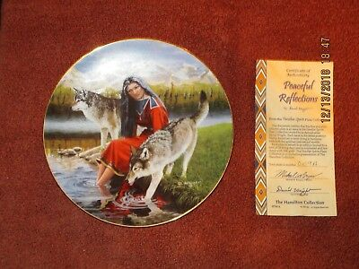 """Hamilton Collection Collector Plates by David Wright """"Peaceful Reflections"""""""