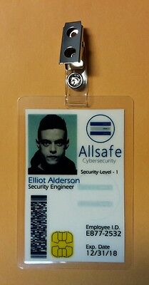 Mr. Robot ID Badge - Allsafe Cybersecurity Elliot Alderson costume prop cosplay