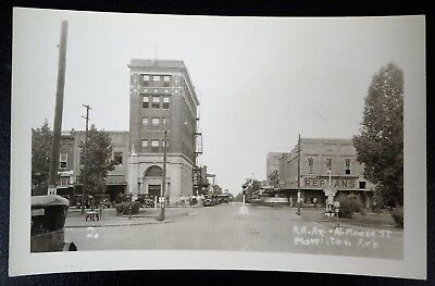 Morrilton Arkansas Rppc Rr Crossing Bank Rephans Dentist Real Photo Postcard