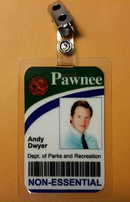 Parks and Recreation ID Badge -City of Pawnee Andy Dwyer costume prop cosplay