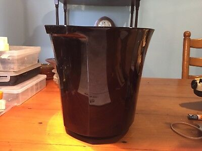 Black glass Champagne Bucket From Depression era