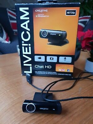 Creative Live Cam Chat HD 1 Megapixel USB 2.0 1280 x 720 in a box