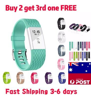 Replacement Fitbit Charge 2 Wristband Silicone Watch Wrist Sports Band Strap