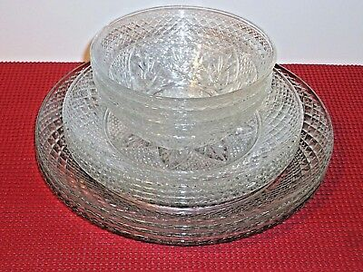 Lot Luminarc Cristal D'arques Antique Plates Bowls