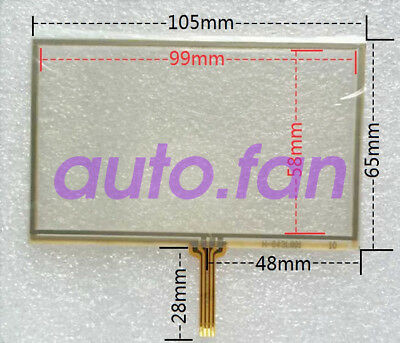 New for 4.3 inch learning machine / car navigation external screen touch glass