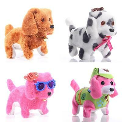 Walking Barking Dog Kids Electric Plush Toy Moving Luminous Light Wag Tail Vocal
