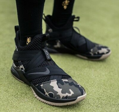 c62461bbdf03 Nike Air Zoom LeBron Soldier XII 12 Camo Black Basketball Gym Trainers Men  UK 13