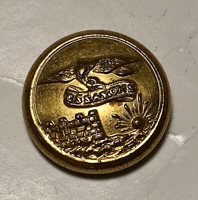 Excellent Civil War Period Cuff Button U.S. Army Engineers Essayons Cuff Button