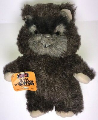 "1984 Vintage Kenner ""STAR WARS"" (ROTJ) ""PAPLOO THE EWOK"" 15"" Plush Toy, W/ Tag"