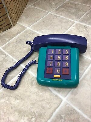 Vintage Conairphone Conair Phone Push Button Corded Telephone Pastel Colors