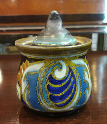 Art Deco Gouda Pottery Ink Well