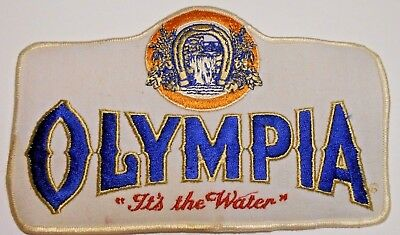 "Olympia Beer Jacket  Patch 7-3/4"" inches Ale Vintage"