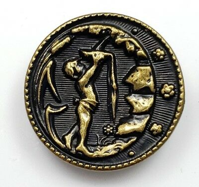 Antique Button  Cupid at the Spring Fable Super Detail L@@K #64