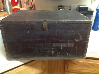 Vintage Atlas Powder Co High Explosives Dynamite Box 50 lbs