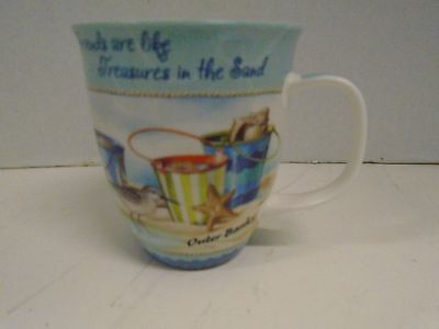 Beach Outer Banks Cape Shore Coffee Cup Mug Friends are like Treasures  Sand