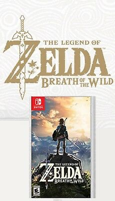 Legend of Zelda: Breath of the Wild Nintendo -NEW with Special Back Cover