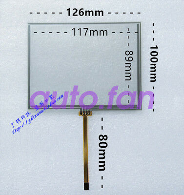 New for 5.6-inch 126*100 resistive 4-wire industrial LCD touch screen glass