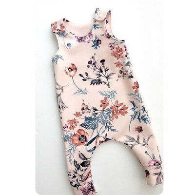 Infant Toddler Baby Girls Christmas Floral Jumpsuit Romper Bodysuits Outfits Set