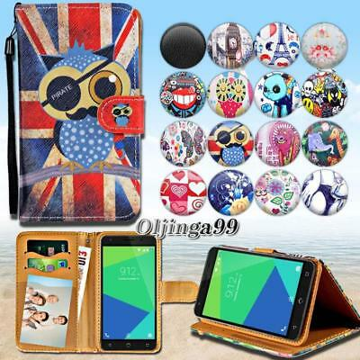 For Various NUU Mobile Phones - Leather Wallet Card Stand Flip Case Cover