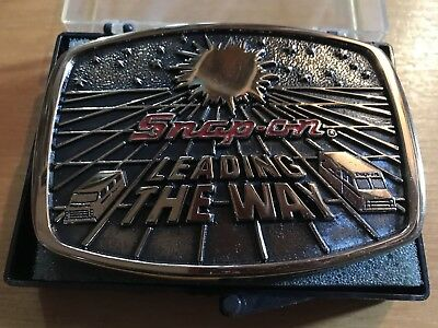 Vintage Snap-On Leading The Way Limited Edition Bts Belt Buckle Brass W Case