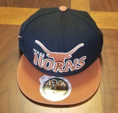 new concept 8faf9 cb5e6 Texas Longhorns New Era Kids 59Fifty Hat Cap Fitted Size 6 5 8