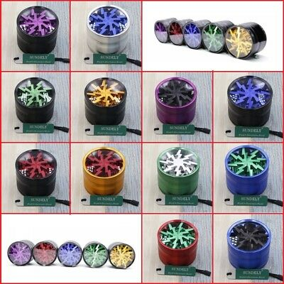4 Layers 63mm Aluminum Alloy Hand Crank Herb Mill Crusher Tobacco Smoke Grinder