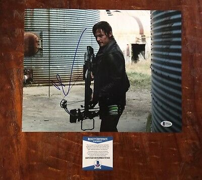 The Cheapest Price Norman Reedus Signed 11x14 Photo Autograph The Walking Dead Psa Dna Coa Television