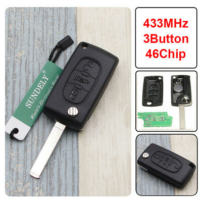 Peugeot 2 button remote key fob S108231BN0
