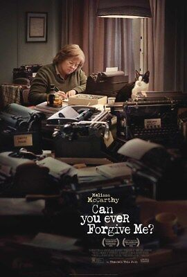 CAN YOU EVER FORGIVE ME? MOVIE POSTER 2 Sided ORIGINAL 27x40 MELISSA MCCARTHY
