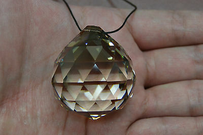 1 Pc Asfour Honey Round Crystal Ball Prisms Feng Shui 40Mm #t-2783