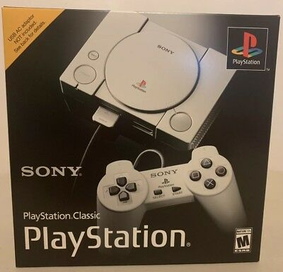 New Sony PlayStation Classic Edition Console Mini 20 Games PS1 Hand Fast Ship