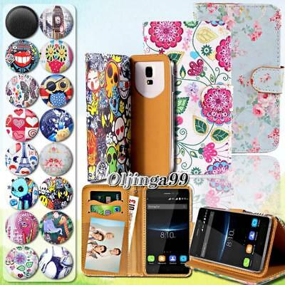 For Various Blackview Mobile Phones - Leather Wallet Card Stand Flip Cover Case