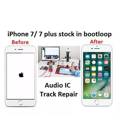 Iphone 7 7 PLUS AUDIO IC NO SOUND FREEZE TOUCH BOOTLOOP REPAIR SERVICE FAST USA